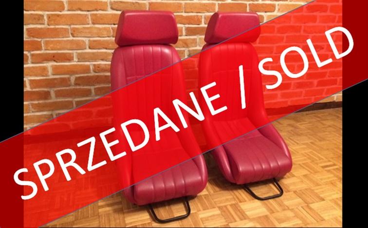 SPRZEDANE !!! Fotele Cobra Cup (2 sztuki)